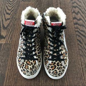 Golden Goose Deluxe Brand Leopard Slide Sneakers